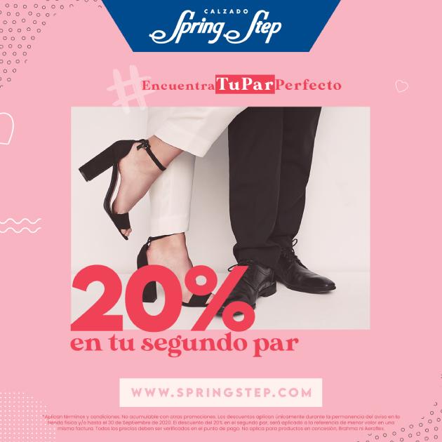 20% OFF EN EL SEGUNDO PAR